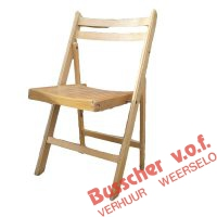 MB003 Houten klapstoel