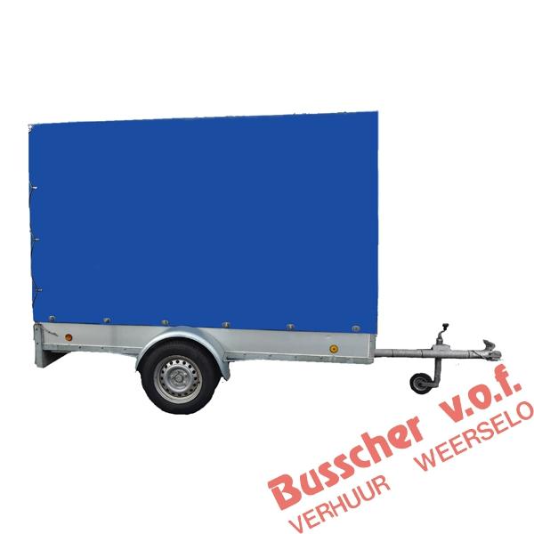 AW002 AW003 ongeremde aanhangwagen 750 kg met huif